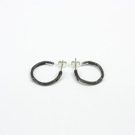 Faág karika fülbevaló ezüst
