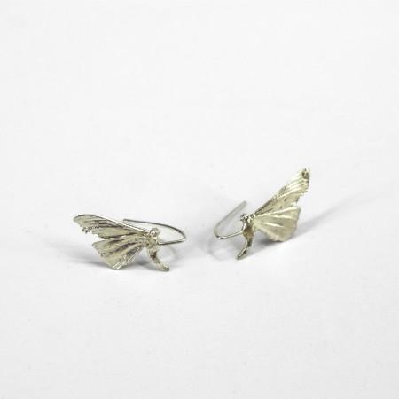 Pillangó fülbevaló ezüst
